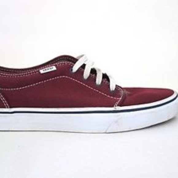 daee180cfe VANS Off the Wall Burgundy Red Canvas Sneaker 7.5.  M 5b191d62035cf1b955d658ae